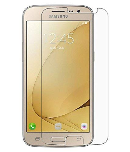 Feel Tech Tempered Glass (Transparent) - 2.5D, 9H, 0.3mm, Full HD, Full Glue Screen Protector Guard Common for Samsung J2 2016