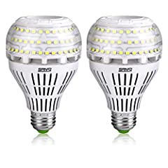 Super Bright: This 22W LED Bulbs can produce up to 3000 lumens output, means an incredible 136 lumen/watt, very bright and energy saving. With a wider 270-degree beam angle provides an all-round light distribution, can illuminate a larger place even ...