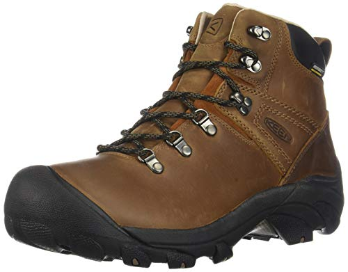 KEEN Men's Pyrenees Mid Height Waterproof Leather Hiking Boot, Syrup, 9.5