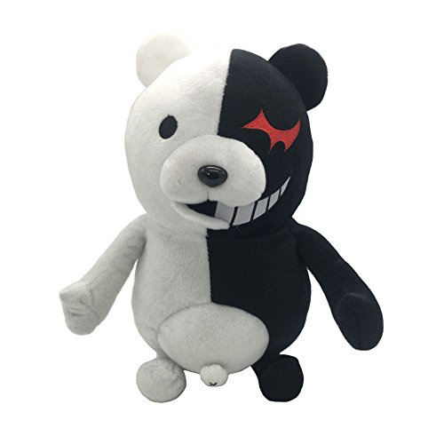 MAGGIFT monobear Plush Black White Bear Stuffed Plush Doll Toy