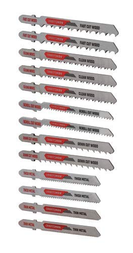 CRAFTSMAN Jigsaw Blades, T-Shank Set, 13-Piece (CMAJ1SET13)