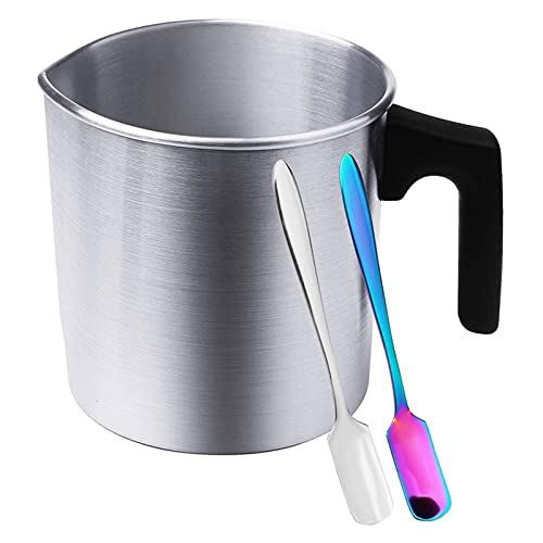 XIAOFANG Kerze Schmelzt Pot, DIY. Kerze, die Kits Machen, hitzebeständige Griff Wachs Schmelztopf für Kerzenherstellung, Kerze, die Topf Machen (Color : Silver)