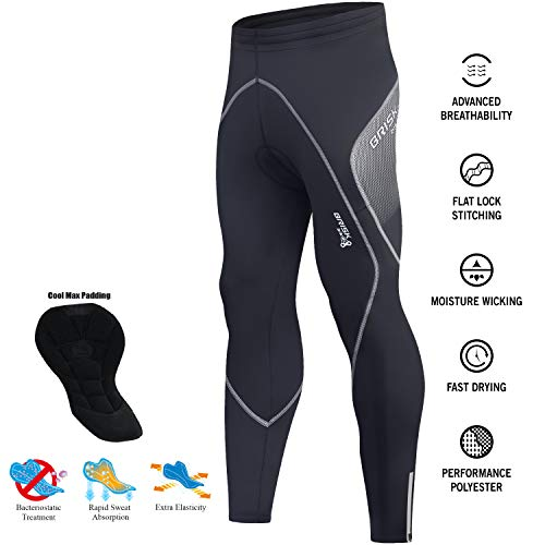 Brisk Bike Herren-Radhose, Thermo-Leggings, mit Coolmax-Polsterung, italienischer Stoff, Herren, Brisk Sublimation Panel Trousers, M-3 Schwarz Grau, xl