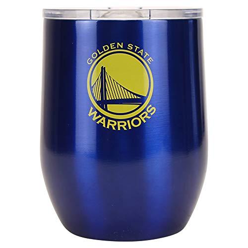Boelter Brands NBA Golden State Warriors Trinkbecher, Stahl, 16 gebogen, Team-Farben, Einheitsgröße