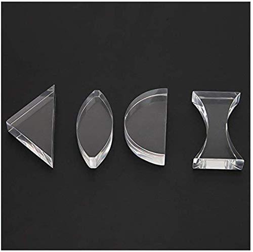 science classroom optics kits Optical Glass Light Spectrum Prism Basic Physics Teaching 4PCS