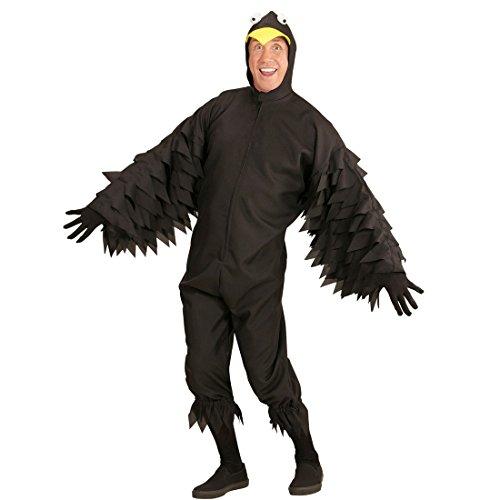 NET TOYS Vogelkostüm Rabe Rabenkostüm L (52) Faschingskostüm Krähe Tierkostüm schwarzer Vogel