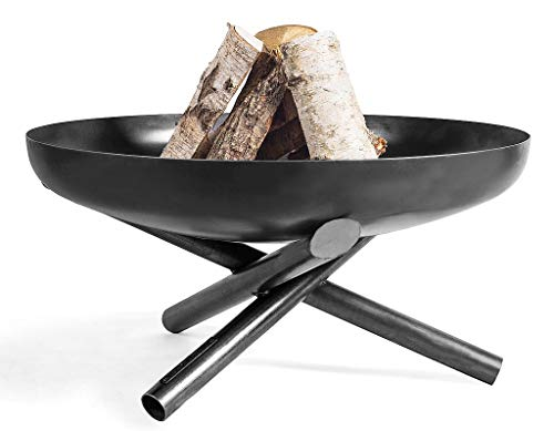 KORONO ® Feuerschale mit Dreibein-Fuß (60cm Ø, 36cm hoch)