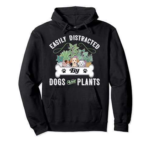 Facilmente distratto da cani e piante proprietari di cuccioli di giardinaggio Felpa con Cappuccio