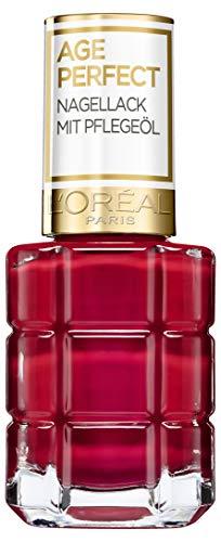 L'Oréal Paris Age Perfect Nagellack mit Pflegeöl in Nr. 558 rouge amour, für glatte und glänzende Nägel, in rot, 13,5 ml