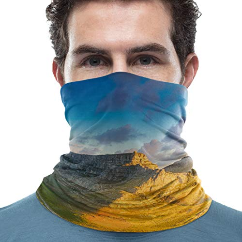 Unisex Neck Gaiter South Africa Cape Town Mountai Landscape 18 x 9 inch Sun Protection Scarf Lightweight & Breathable Head Wraps Sport Neck Scarf Headbands for Running/Cycling