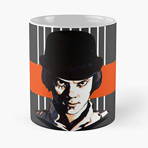 Film Movies Alex Dystopia Orange A Clockwork Movie Delarge Taza de café con Leche 11 oz