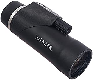 Xgazer Optics 8x42 Compass & Rangefinder Monocular Telescope |Waterproof & Compact with Retractable Eyepiece|Night & Day Zoom Scope Gear for Hunting, Bird Watching, Hiking, Camping, Travel