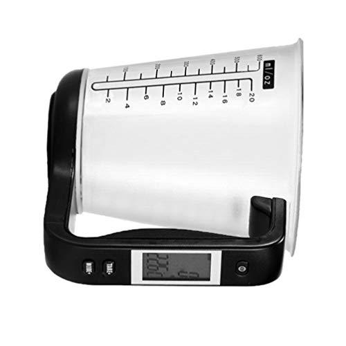 Cabilock Taza de Medición Electrónica Digital con Pantalla LCD Taza Medida Vierte para Cocina Leche en Polvo Agua Líquida Alimentos Azúcar Aceite Café