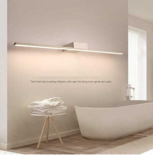Lámpara LED Espejo Luces, Impermeable antiniebla Baño Baño Iluminación Lámpara Maquillaje Moderna Minimalista Luces de baño (Color : B)