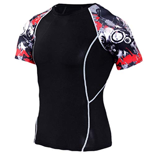 HANA+DORA Compression Colored Short Sleeve Mens Best Fit T-Shirt for Men T Shirt 6 XL