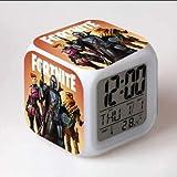 フォートナイト 7色イルミネーション デジタル 目覚し時計 アラーム