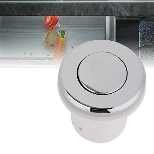 Niiyen Interruptor de presión de Aire, Sistema neumático multipropósito para el hogar, botón pulsador de Acero Inoxidable para eliminación de Basura, SPA, Encendido y Apagado