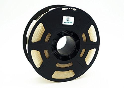 Kaisertech Filament für 3D Drucker 1kg PLA 1.75mm Transparent - Premium Qualität Spule Rolle