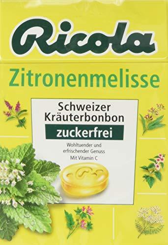 Ricola Box Zitronenmelisse Bonbons ohne Zucker, 50g