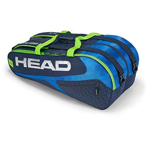 HEAD Unisex– Erwachsene Elite 12R Monstercombi Tennistasche, Blue/Green, Einheitsgröße