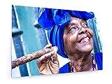 weewado Filipe Frazao - Cuba - Femme fumant Un Cigare à la Havane - 30x20 cm -...