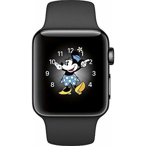 Renewed Apple Watch Series 2, 38mm Space Black Stainless Steel Case with Black Sport Band (Renewed)