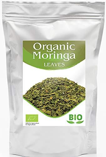 Moringablätter Tee BIO | Loser Kräutertee | Sorgfältig gesiebt, reich an Proteinen | Aus Ägypten | Organische Moringa Oleifera 500g