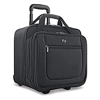 Solo New York Bryant Rolling Bag with Wheels Fits Up to 17.3-Inch Laptop Black 14  x 16.8  x 5
