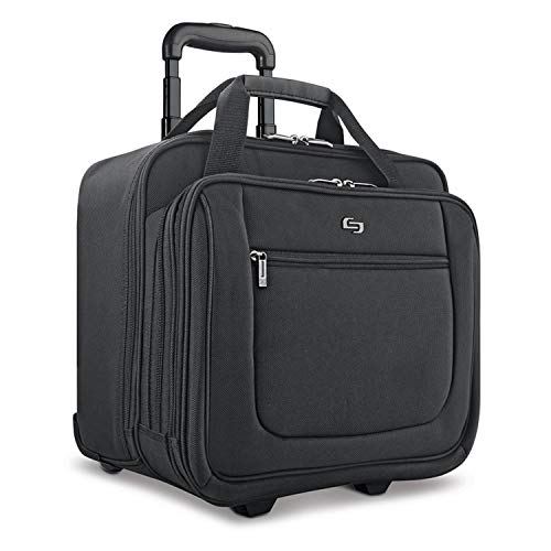 "Solo New York Bryant Rolling Bag with Wheels, Fits Up to 17.3-Inch Laptop, Black, 14"" x 16.8"" x 5"""