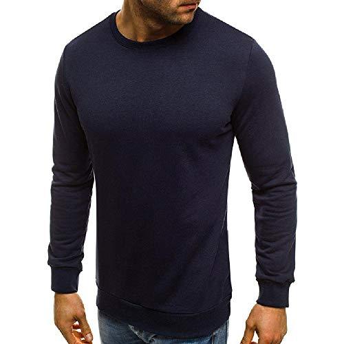 NOBRAND States - Sudadera de manga larga para hombre Azul azul marino XX-Large