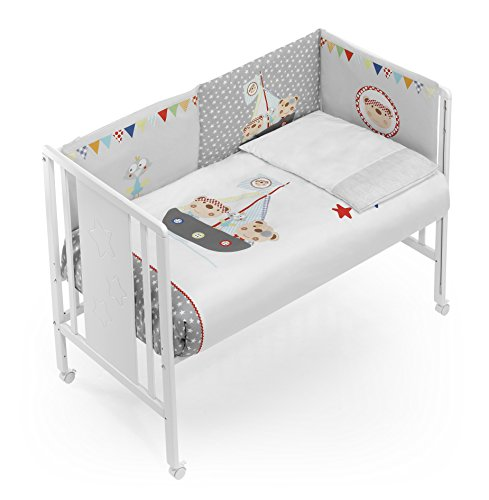 Housse couette + protecteur + oreiller maxicuna Pirate – Interbaby