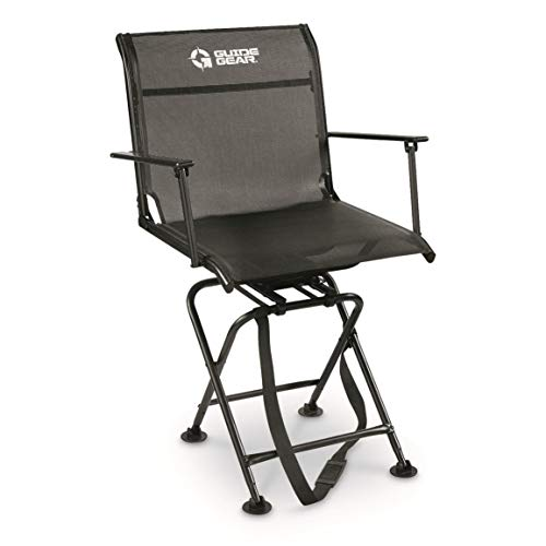 Guide Gear Big Boy Comfort Swivel Hunting Blind Chair with Armrests, 500 lb. Capacity