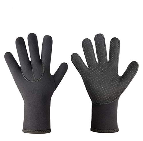 TINAYAUE 3 mm Neopren-Handschuhe für Neoprenanzug, Kaltwasser, Tauchhandschuhe, fünf Finger, Wassersport, dehnbar, Schnorcheln, Paddeln, Surfen, Bootfahren, Skifahren, Handschuhe für Männer und Frauen