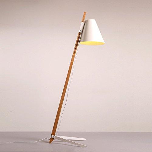Mena Home- Lámparas de pie Nordic Wood Art Moderno Estudio Minimalista Dormitorio Sala Lámpara de cabecera Aprendizaje Escritorio Escritorio Lámpara de pie