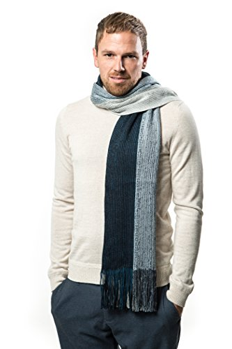 Mens Scarf, Knit Striped Scarf, Winter Fashion Scarf In An Elegant Gift Box