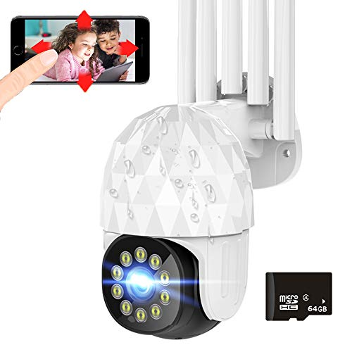 Security Camera Outdoor Wireless WiFi Full HD 1080P Security...