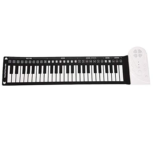 Great Price! FJFJFJ 49 Key Hand roll Electronic Piano Portable Folding Soft Flexible Keyboard roll u...