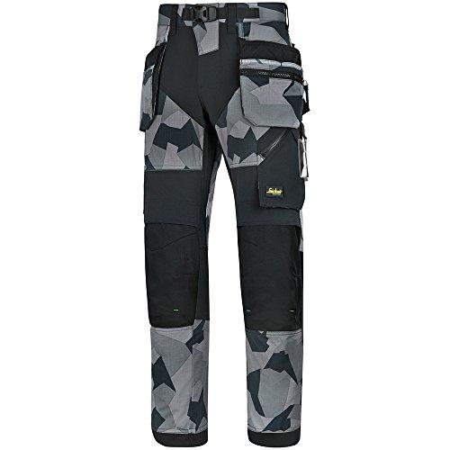 Snickers Workwear 69020404044 FlexiWork werkbroek + m. HP 96 grijs - camouflage