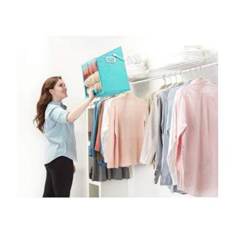New Closet Caddy Pull Down Shelf Storage Basket,Rotatable Retrieve Clothes Organizer Case,Clothes Storage Basket,Shelves Storage Bag for Bedroom,Bathroom and Kitchen Sort Organizer Box