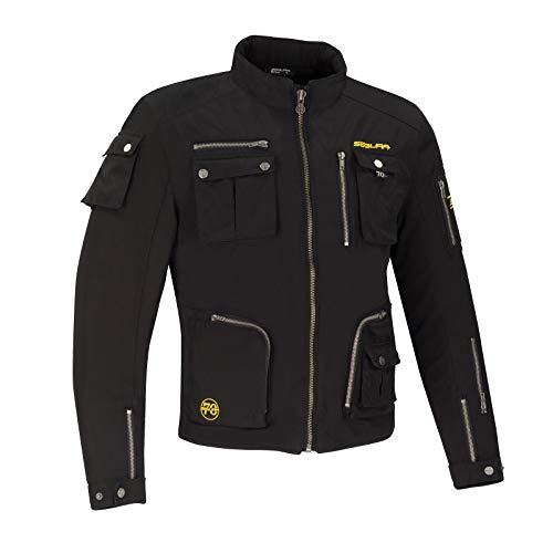SEGURA - Giacca da moto Tazer, taglia L, colore: Nero