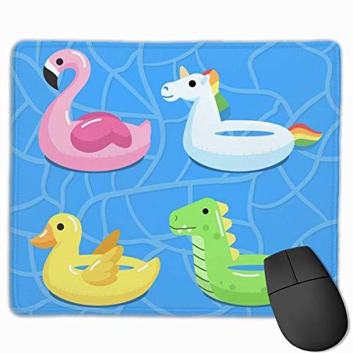 Pool Aufblasbare Anti-Rutsch-Persönlichkeit Designs Gaming Mouse Pad Schwarzes Stoff Rechteck Mousepad Art Naturkautschuk Mausmatte mit genähten Kanten