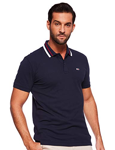 Tommy Hilfiger Herren Poloshirt TJM  Classics Stretch Polo,Blau (Black Iris 002),Small (Herstellergröße: S)