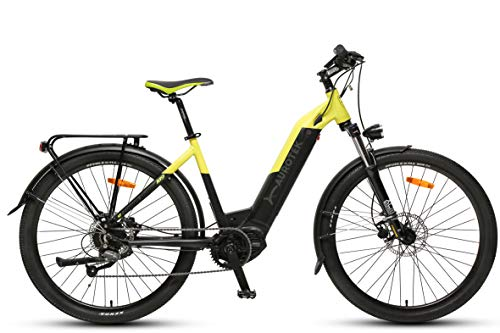Aurotek Lisbon Bicicleta Eléctrica 26' Motor Central, Adultos Unisex, Negro, Grande