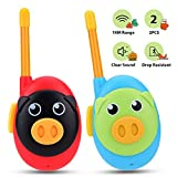 Nestling 2pcs Walkie Talkies for Kids, 8 Channels 2 Way Radio Cute Pig