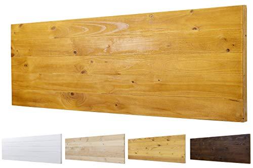 Cabecero Ancho 60cm de Madera Maciza Mod. Roma para Camas de 80cm, 90cm, 110cm, 135cm, 150cm. Herrajes incluidos (160cm X 60cm, Roble)
