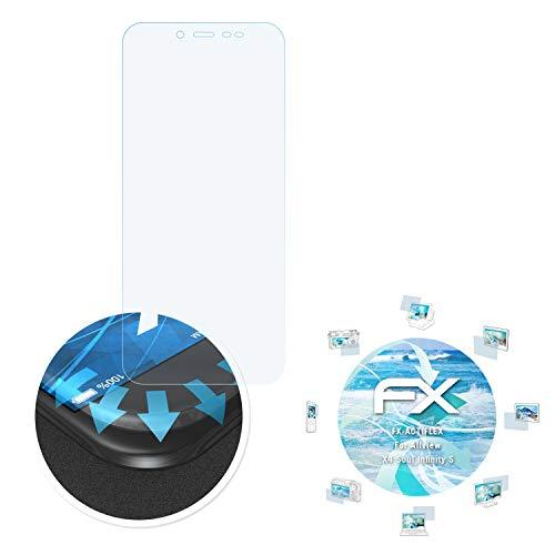 atFolix Schutzfolie kompatibel mit Allview X4 Soul Infinity S Folie, ultraklare & Flexible FX Bildschirmschutzfolie (3X)