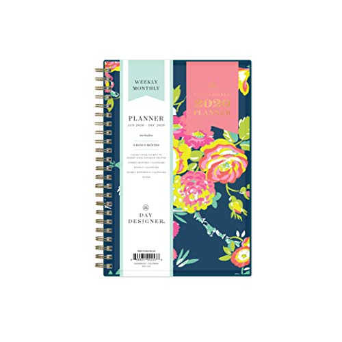 Day Designer for Blue Sky 2020 Year Weekly & Monthly Planner, Flexible Cover, Twin-Wire Binding, 5