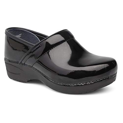 Dansko Women's Wide XP 2.0 Clog, Black Patent, 40 W EU (9.5-10 US)