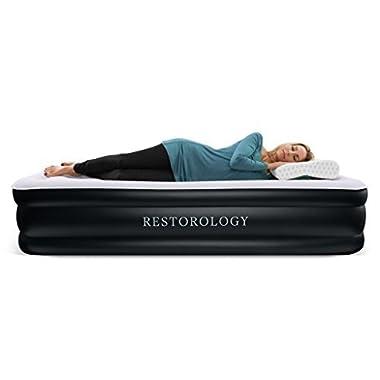 Restorology Sleep Series Air Mattress with Air Coil Technology & Pump