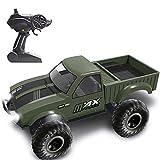 CUIGANGZ 2.4G Wireless Bigfoot Monster Control Remoto Truck Juguete Todo Terreno Escalada Rc Coche 4WD Fuera del camino Rc Modelo recargable del coche Rc Regalos de camiones for niños mayores de 8 año